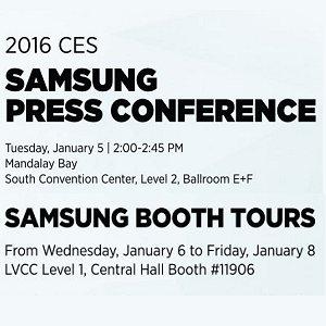 Post thumbnail of サムスン、2016年1月6日午前7時より米国ラスベガスで CES 2016 プレスカンファレンスを開催、テレビなどを発表予定