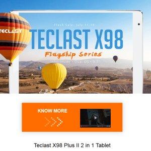 Post thumbnail of GEARBEST、インテルプロセッサ Android と Windows デュアル OS 搭載 Teclast ブランド「X98」シリーズタブレットセール開始
