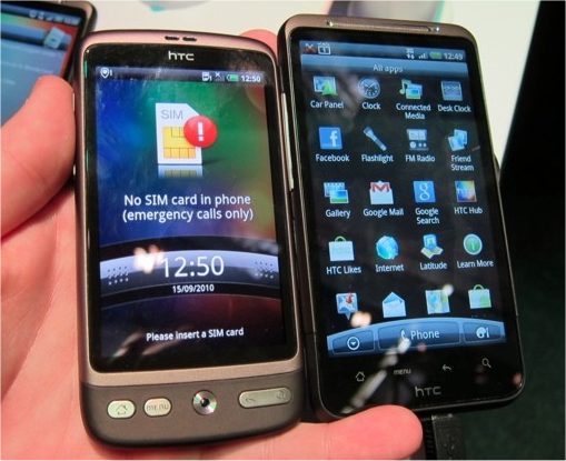 HTC Desire nomal and Desire HD