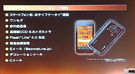 KDDI SHARP IS03発表会 4