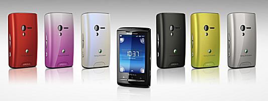 Sony Ericsson Xperia X10 mini 6色