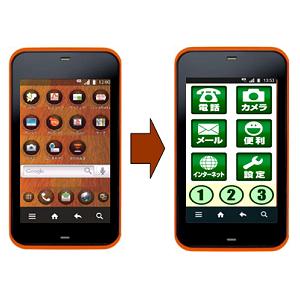 Post Thumbnail of KDDI au Android搭載スマートフォンに簡単メニュー提供開始